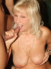 Blonde grandma Remy meets up with her young hottie and welcomes his dick in her mouth and cooter